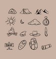 hand drawn camping theme vector image