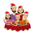 happy family celebrates christmas holiday concept vector image vector image
