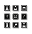 hotel services buttons set vector image