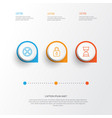 icons set collection of hourglass safeguard vector image