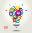 IDEA Colorful conceptual background vector image vector image