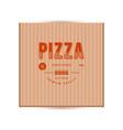 label design for box pizza vector image