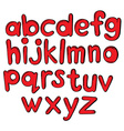 Letters of the alphabet in red color vector image vector image