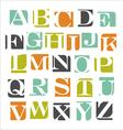 modern alphabet poster design vector image vector image