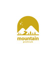 mountain hills with pine tree logo vector image