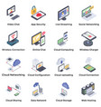 networking icons pack vector image