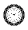 old watch black silhouette vector image vector image
