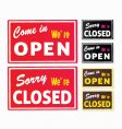 Open and closed store signs vector | Price: 1 Credit (USD $1)