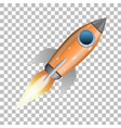 orange rocket ship launch vector image vector image