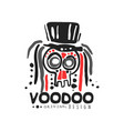 original voodoo magic logo template design with vector image vector image