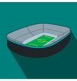 Oval footbal stadium flat icon vector image vector image