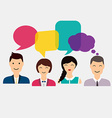 People icons with colorful dialog speech Social vector image vector image