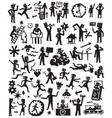 people lifestyle doodles set vector image vector image