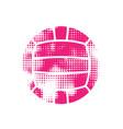 pink halftone water polo ball vector image vector image