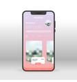 pink liquid bakcground booking ui ux gui screen vector image vector image