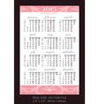 pink pocket calendar 2015 with USA holidays vector image vector image