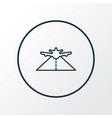 plane highway icon line symbol premium quality vector image