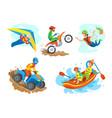 quad biking hobman motorbike bungee jumping vector image vector image