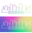 richmond skyline colorful linear style editable vector image vector image