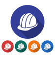 round icon of construction safety helmet flat vector image