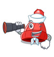 sailor with binocular photo of a cartoon woolen vector image