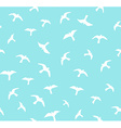 Seamless flying birds seamless pattern Background vector image