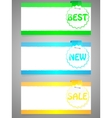 set colorful stickers with paper card vector image