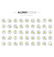 set line icons allergy