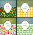Set of abstract labels with pattern for the vector image