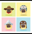 Set of dog in cute costumes vector image vector image