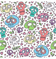 skull pattern day dead background vector image