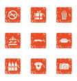 small area icons set grunge style vector image vector image