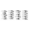 sniper rifles vector image vector image