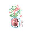 spring logo template original design colorful vector image vector image