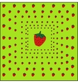 strawberry sweet background vector image vector image