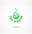 tea house logo vector image