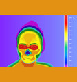 thermal imager medical scan vector image