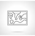 Touristic map flat line design icon vector image vector image