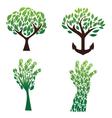 tree green set vector image vector image