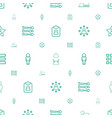 user icons pattern seamless white background vector image vector image