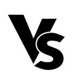 vs versus letters logo icon isolated on white vector image vector image
