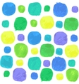 Watercolor Seamless Pattern With Blue Green vector image vector image