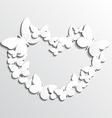 White Heart Butterflies vector image vector image