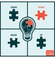 Bulb puzzle icon isolated vector image