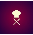 Chef hat with cutlery vector image