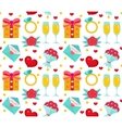 Cute seamless pattern Valentines Day with flowers vector image