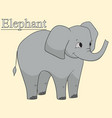 learn the name of african animals inscription vector image