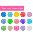 modern colorful paints stroke icons vector image