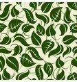 Green seamless pattern with leaves vector image