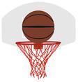 Grey basketball basket and hoop vector image
